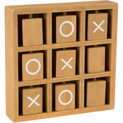 Hey! Play! Tic Tac Toe Wooden Travel Game