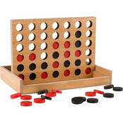 Hey! Play! Classic Four in a Row Wooden Game