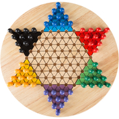 Hey! Play! Chinese Checkers 11 in. Game Set