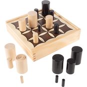 Hey! Play! Wooden Tabletop 3D Tic Tac Toe Board Game