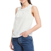 Lucky Brand Smocked Woven Tank