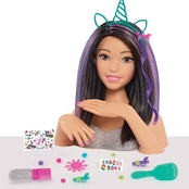Barbie Deluxe Glitter and Go Styling Head, Black Hair