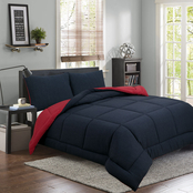 Royale Linens Jersey Quilted 3 pc. Comforter Set