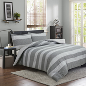 Royale Linens Herringbone Stripe 3 pc. Comforter Set