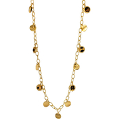 Carol Dauplaise Goldtone Leopard and Metal Drops Long Necklace