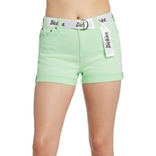 Dickies Juniors Shorties Roll Cuff Shorts with Logo Belt