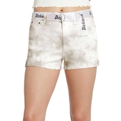 Dickies Juniors Tie Dye Shortie Roll Cuff Shorts with Logo Belt