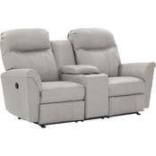 Best Home Furnishings Caitlin Leather Power Reclining Loveseat with Console