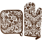 Lavish Home Quilted Oven Mitt and Pot Holder