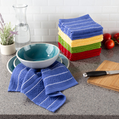 Lavish Home Cotton Chevron Weave Kitchen Dish Cloths 16 pk.