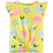 Carter's Toddler Girls Floral Tie Front Jersey Tee