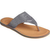 Sperry Women's Seaport Thong Metallic Leather Sandals