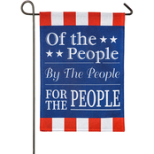 Evergreen For the People Garden Burlap Flag