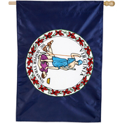 Evergreen Virginia State Applique House Flag