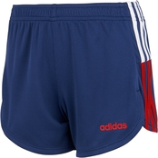 adidas Little Girls Clashing Stripe Shorts