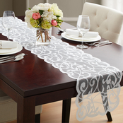 Benson Mills Divine Scroll Lace Table Runner