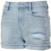 Wallflower Juniors Denim Stellar 3 in. High Rise Vintage Shorts