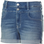 Wallflower Juniors Denim Sassy High Rise 3 in. Shorts