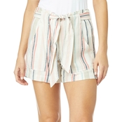 Wallflower Juniors 3 in. Linen Paperbag Waist Shorts