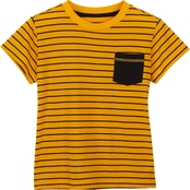 Gumballs Toddler Boys Striped Pocket Tee