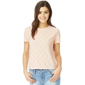 Wallflower Juniors Knit Eyelet Tee