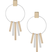 Nine West Twotone Linear Drop Earrings
