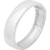 Nine West Silvertone Textured Stretch Bracelet