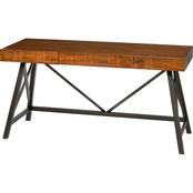 Simply Perfect Rustic Pine Desk with 3 Drawers