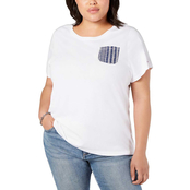 Tommy Hilfiger Plus Size Eyelet Pocket Tee
