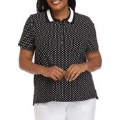 Tommy Hilfiger Plus Size Polka Dot Polo Shirt