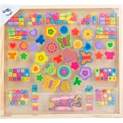 Small Foot Wooden Toys Wooden Threading Jewelry Beads Playset