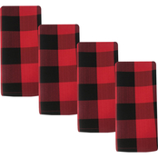 Benson Mills Winchester Check Tablecloth Napkins 4 pc. Set 18 x 18 in.