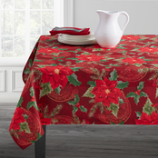 Benson Mills Poinsettia Paisley Tablecloth 60 x 84 in.