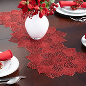 Benson Mills Poinsettia Pressed Vinyl Centerpiece, 13 x 36 in.