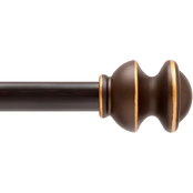 Kenney Kendall Standard Decorative Window Curtain Rod, 48-86 in.