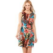 Connected Apparel Tropical Sheath Dress