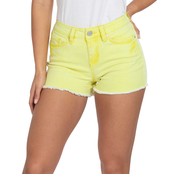 YMI Juniors Mid Rise Frayed Hem Shorts