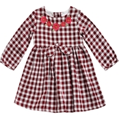 Youngland Little Girls Plaid Dress