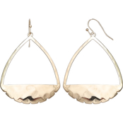 jules b Orange Zest Hammered Triangle Earrings