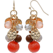 jules b Orange Zest Cluster Bead Drop Earrings