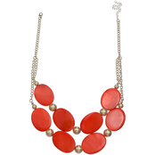 jules b Orange Zest Two Row Shell Necklace