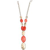 jules b Orange Zest Shell Y Necklace