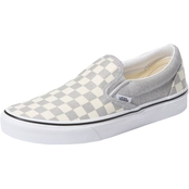 Vans Women's Slip On Check Silver Shoes