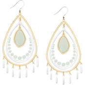 Lucky Brand Orbital Pearl Drop Earrings