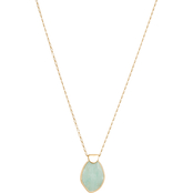 Lucky Brand Reversible Amazonite Set Stone Pendant