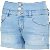YMI Jeans Juniors 2.5 in. 3 Button High Rise Shorts