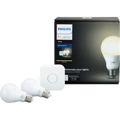 Philips Hue Start Kit with Bridge and 2 White Bulbs