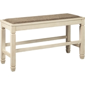 Signature Design by Ashley Bolanburg Double Counter Upholstered Bench
