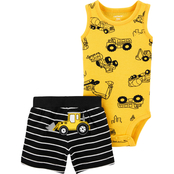 Carter's Infant Boys Construction Bodysuit and Shorts 2 pc. Set