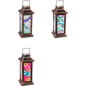 Evergreen Water Color Solar Lantern: 3 Assortment Butterfly, Dragonfly, Hummingbird